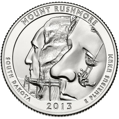 2013-D Mount Rushmore National Memorial, SD Quarter