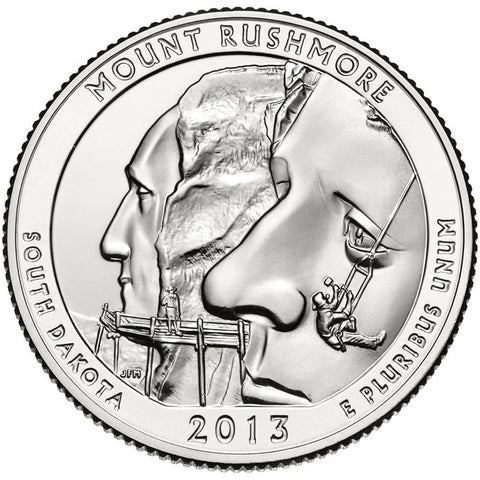 2013 Mount Rushmore National Memorial, SD Quarter