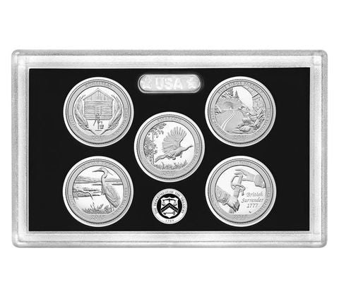 2015-S Silver America the Beautiful Quarter 5-coin Proof Set