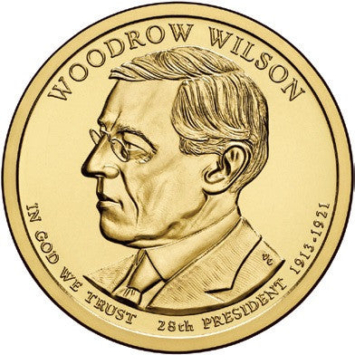 2013 Woodrow Wilson Presidential Dollar . . . . Choice Brilliant Uncirculated