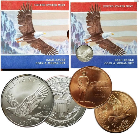 2008 Bald Eagle Commemorative Dollar and Medal Set