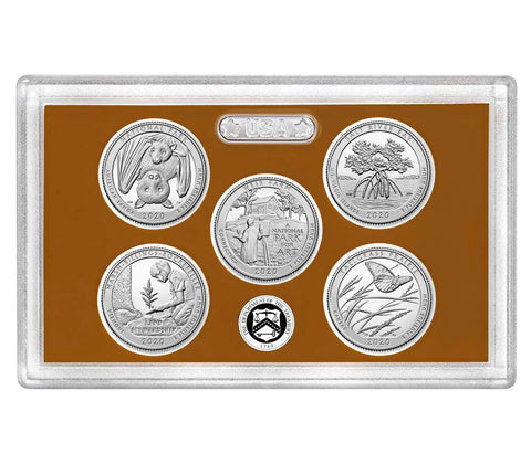 2020-S America the Beautiful Quarter 5-coin Proof Set
