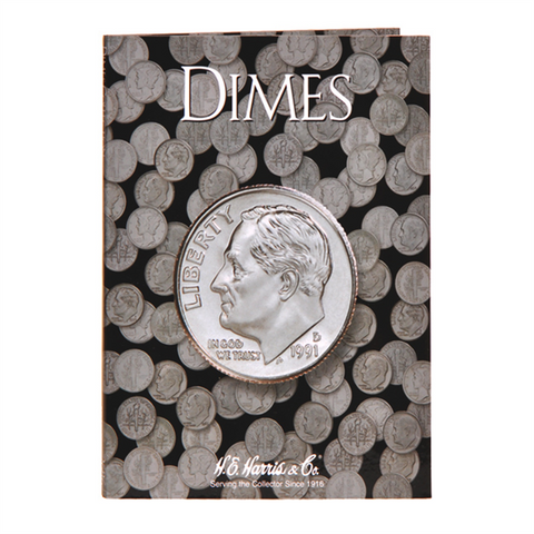 Generic Dime Harris Coin Folder . . . . <br>No dates written in book