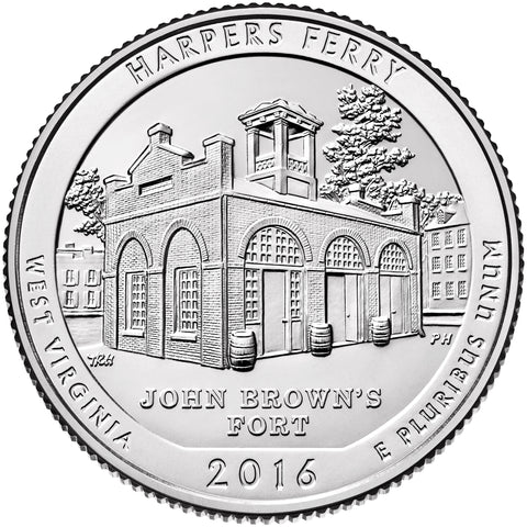 2016 Harpers Ferry National Historical Park, WV Quarter