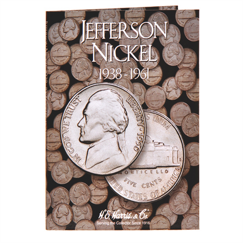 Jefferson Nickel Harris Coin Folder . . . . (1938 to 1961)