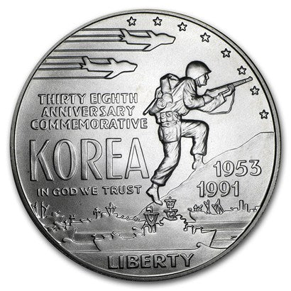 1991-D Korean War Silver Dollar