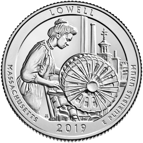 2019 Lowell National Park Quarter P & D Pair