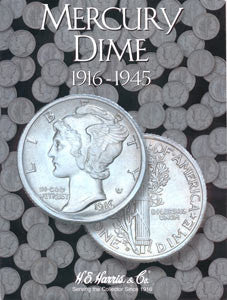 Mercury Dime Harris Coin Folder