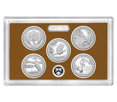 2015-S America the Beautiful Quarter 5-coin Proof Set