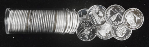 10 Different 90% Silver Statehood Quarters