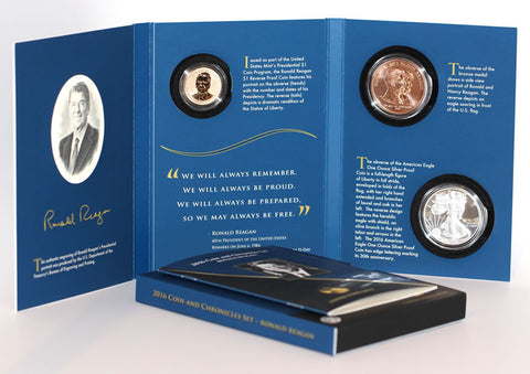 2018 Ronald Reagan Coin and Chronicles Set