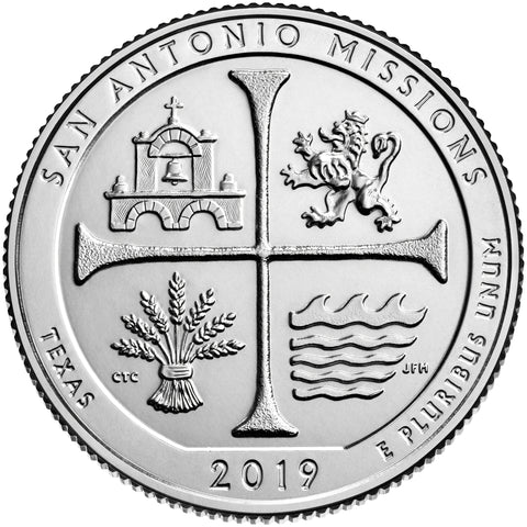 2019-P and D Pair San Antonio Missions National Historical Park Quarters