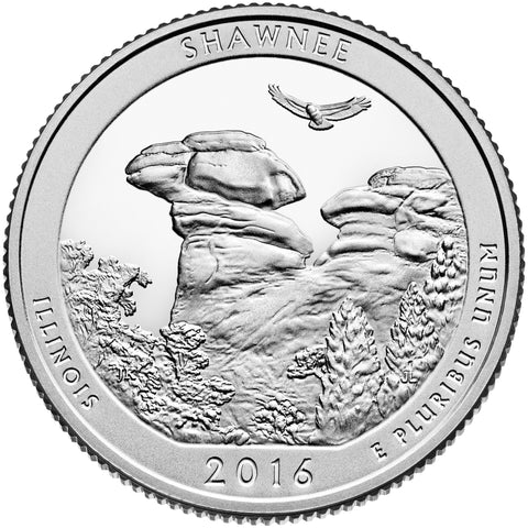 2016-D Shawnee National Forest, IL Quarter