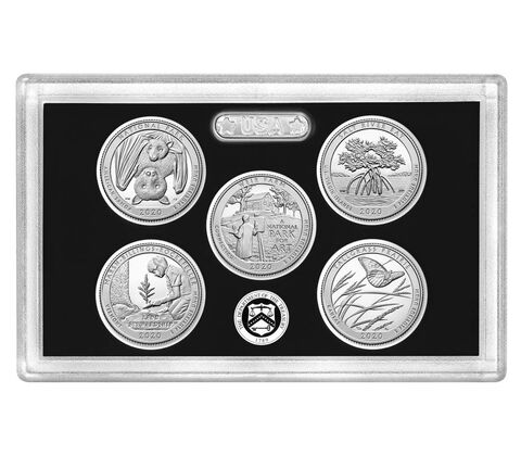 2020-S Silver America the Beautiful Quarter 5-coin Proof Set