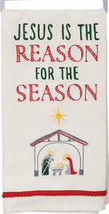 Jesus Is The Reason For The Season Dish Towel