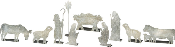 Stand Up Metal Nativity Scene