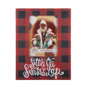 Sittin' on Santa's Lap Plaid Frame