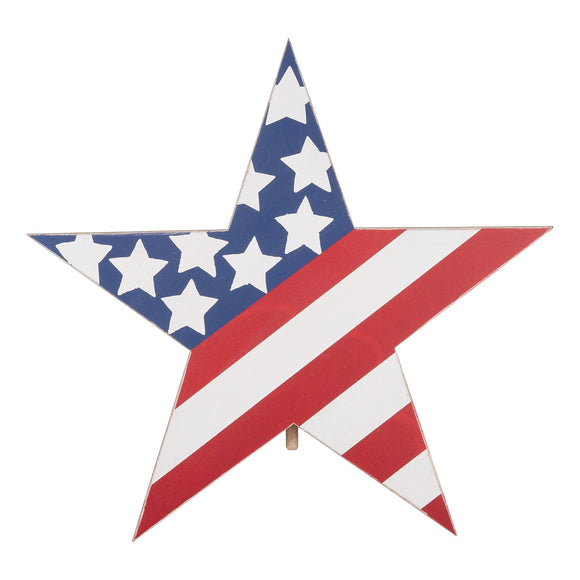 Red, White and Blue Star Topper