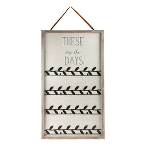 These are the Days / Christmas Card Holder (Reversible)