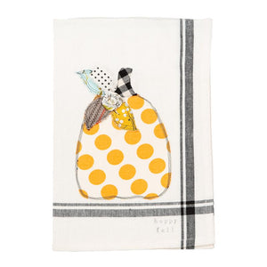 Happy Fall Pumpkin Tea Towel