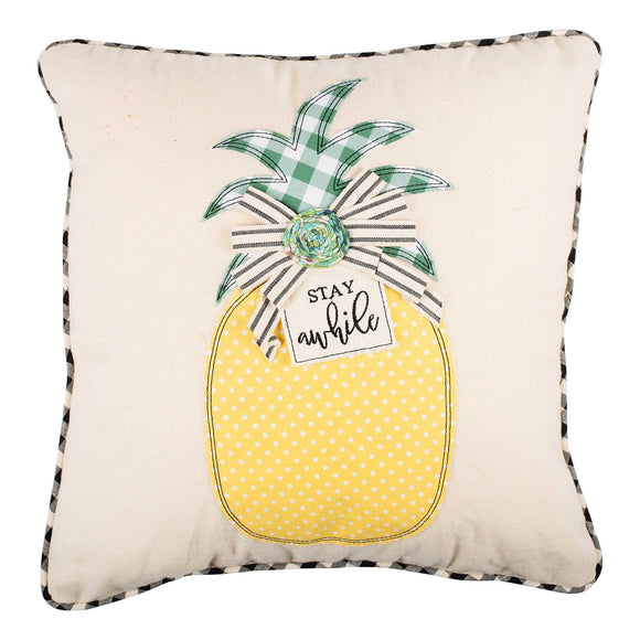 Stay A While Pineapple Pillow