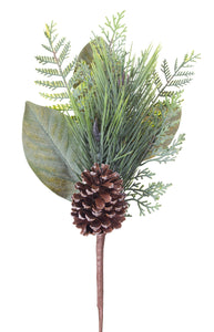 "Pine and Magnolia Leaf Pick 19""H"