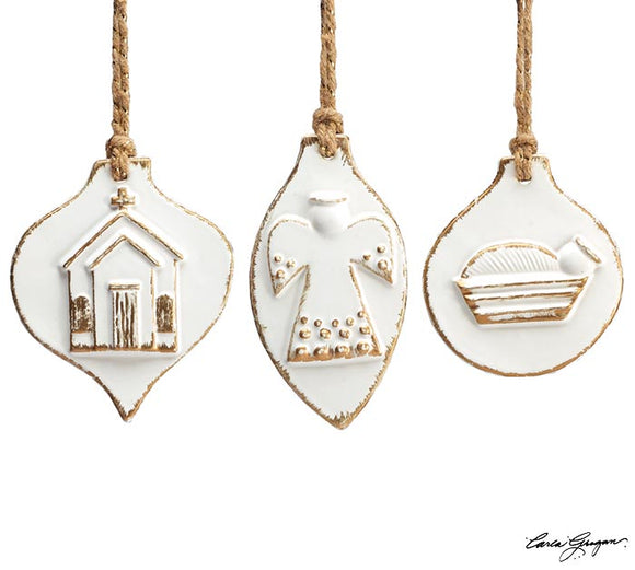 White Than Snow Ceramic Ornaments