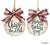 Wooden Ornament with Religous Messages (Choice of Two)