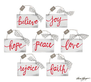 Christmas Message Ornaments