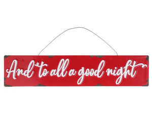 And To All A Good Night Red Ornament