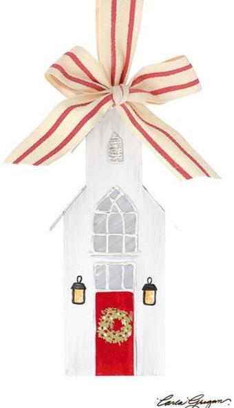 Christmas Church Ornament - Small