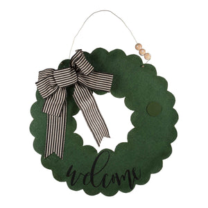 Welcome Wreath Burlee with Interchangeable Accents
