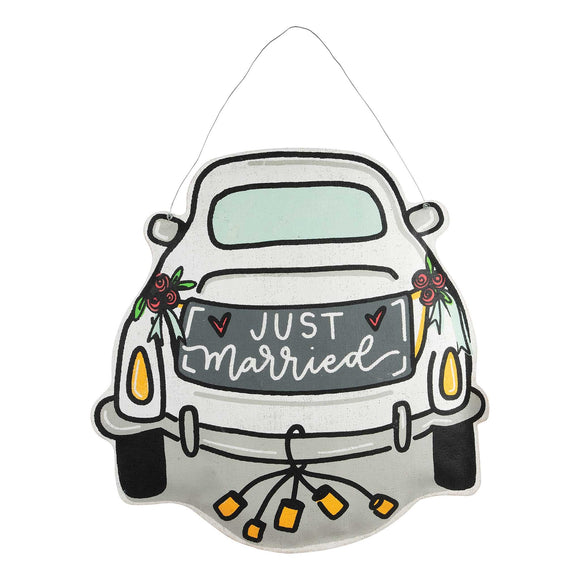 Just Married Wedding Car Burlee