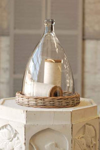 "14"" Bell Jar with Willow Base"