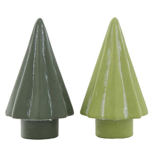 Green Cement Trees, set of 2 colors