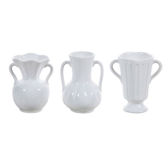 Ceramic White Vases (Choice of three styles)
