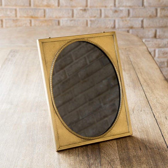 Antique Brass Picture Frame with Oval Matte (rectangle)