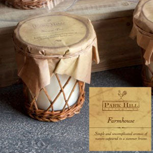 Farm House Willow Basket Candle