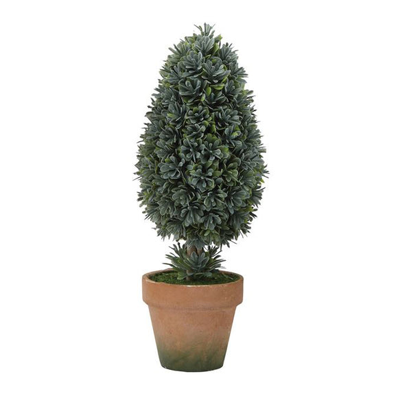 Faux Boxwood Cone Topiary