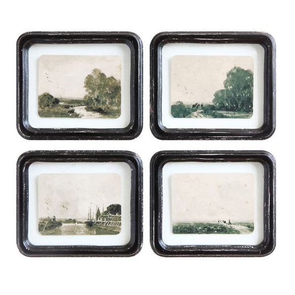 Floating Antique Landscape Wall Decor (Available in Four Styles)