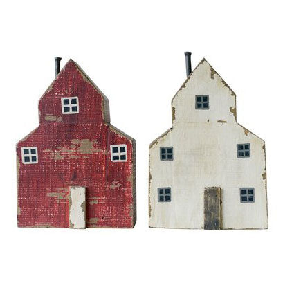 Handmade Wood Barn (Red or White)