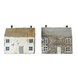 Handmade Wood and Metal Houses (White or Natural)