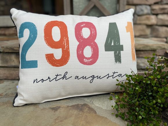 29841 North Augusta Zip Code Pillow