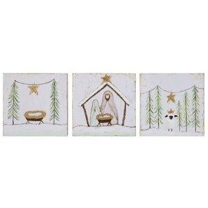 Nativity Canvas Wall Decor