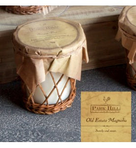 Old Estate Magnolia Willow Basket Candle