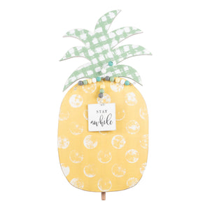 Stay Awhile Pineapple Topper For Welcome Board