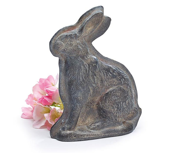 Resin Silver Sitting Bunny