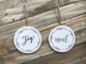 Round Joy / Noel ornaments