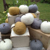 Wool Apple Fall Decor (Choice of 3 Colors)