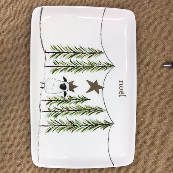 First Christmas Stoneware Platter